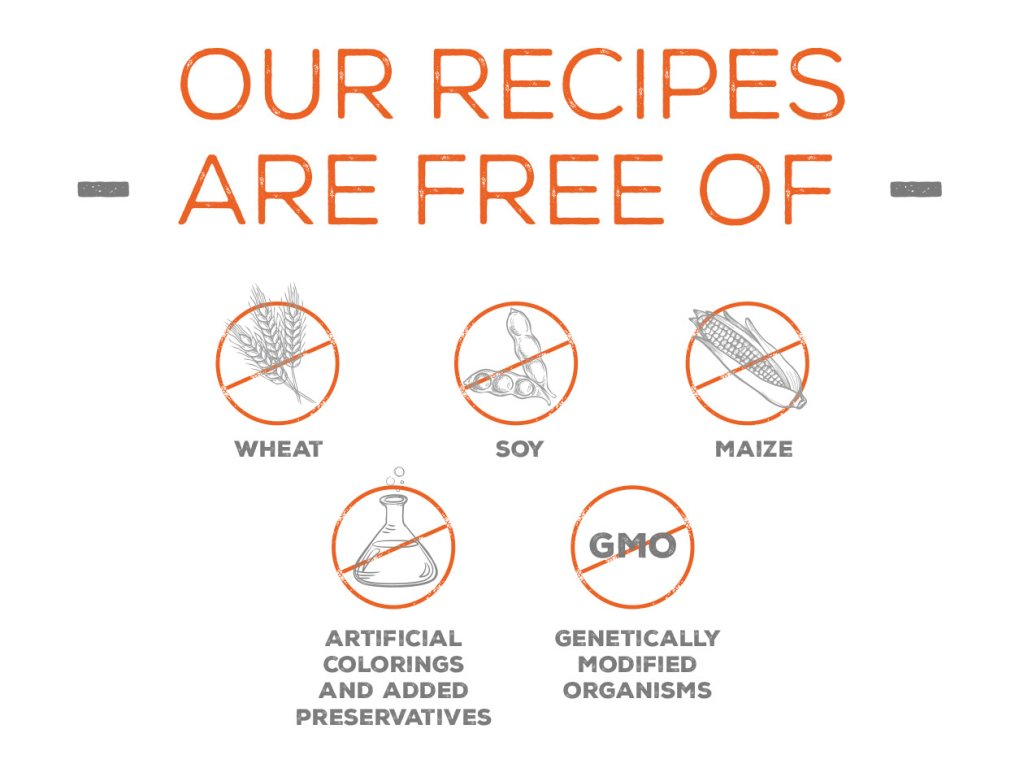Our recipes are free of - 1260